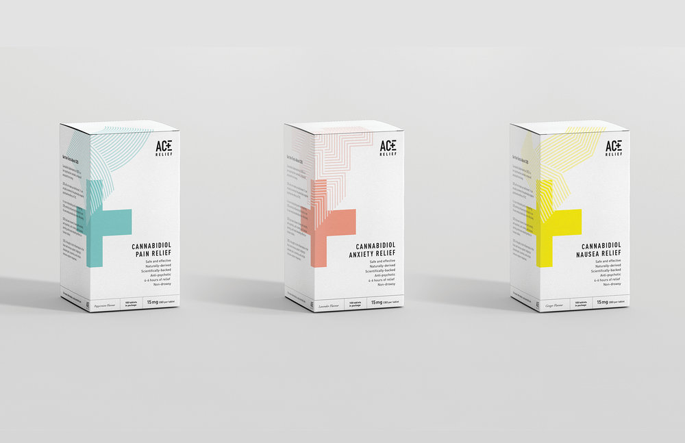 Brynn Staples for Ace Relief Branding and Packaging Graphic Design Merit