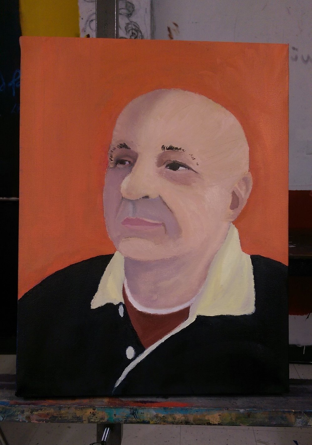 For this project, I had to do an oil painting of someone I knew, so I decided I would paint my Dad.