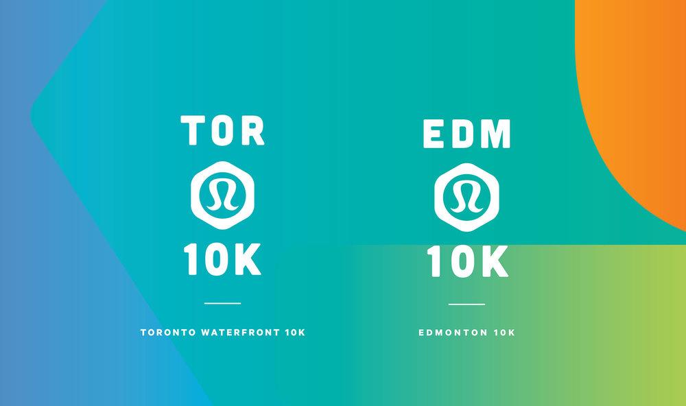 lululemon 10k – Race logos