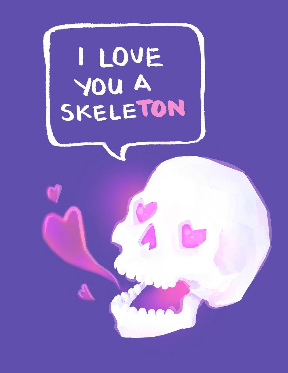 I Love You A Skeleton