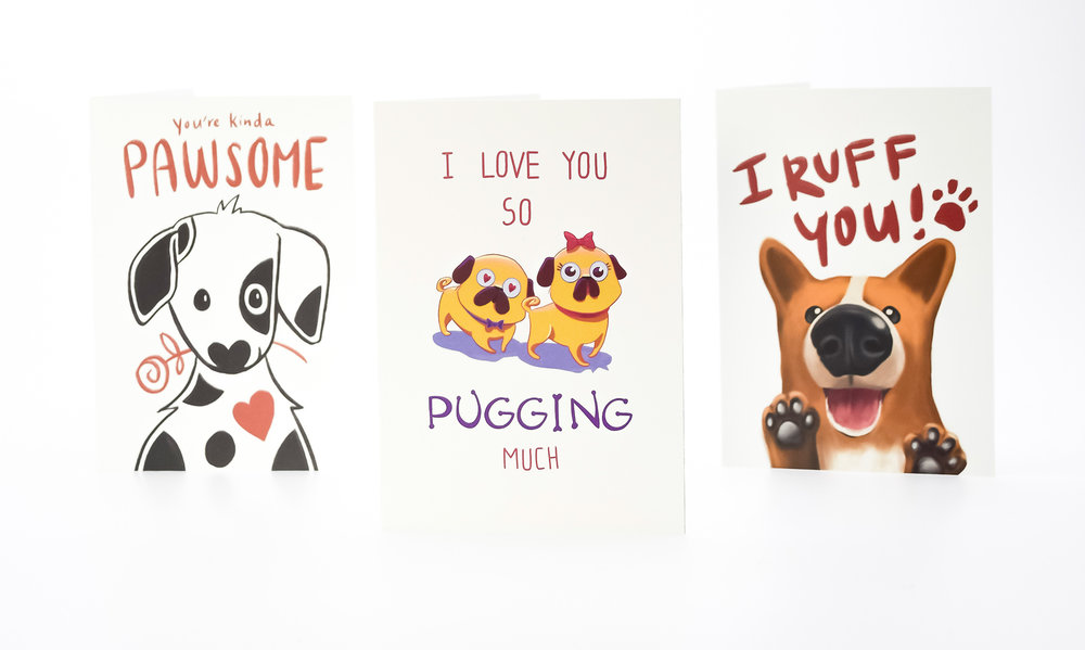 Cards with Dogs