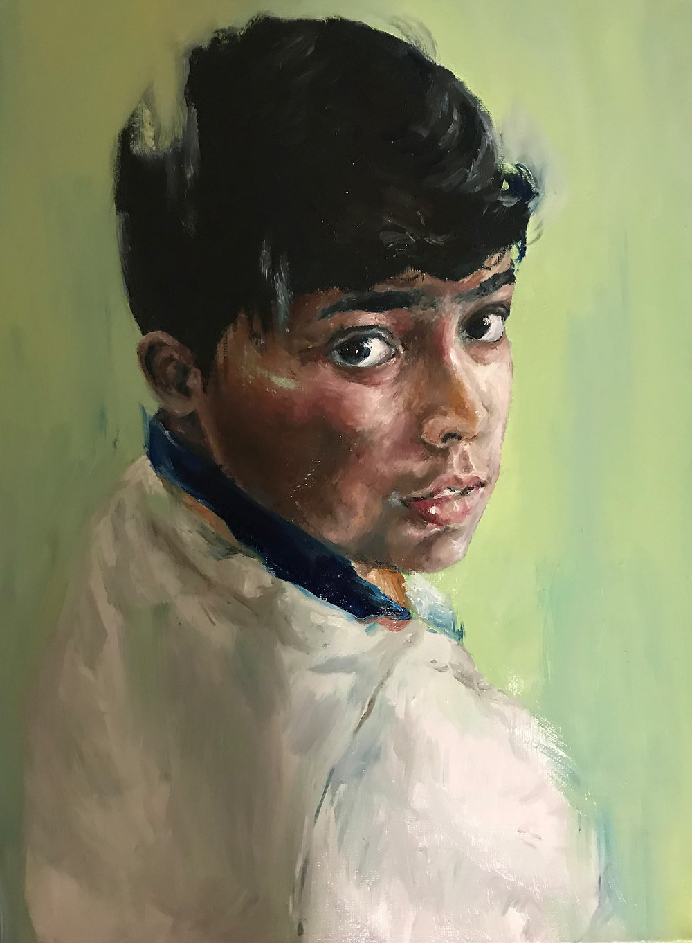 Oil Portrait, Joyce Chan (IDEA22)   This oil painting features my friend's younger brother. I have always had trouble painting with the oil medium and it's great to get some practice with my choice of reference!