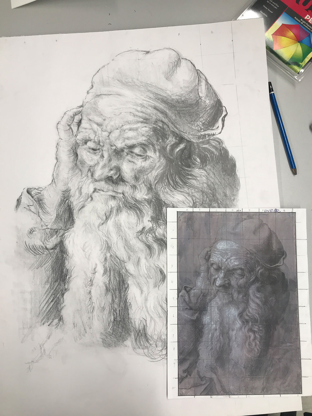 Study on Old Master, Joyce Chan (IDEA22)   Aha! This is our very first assignment for illustration class where we get to emulate and study masters' works from the Renaissance period. I chose Durer's sketch and it's really a lot of fun analyzing his amazing works and drawing style.