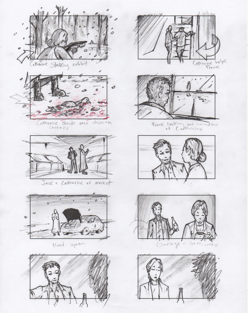 Jim Penola - Storyboards - Short Film - Un Oueuf is Enough 1.jpeg