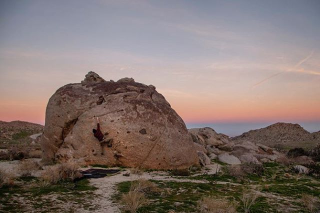 Stuck between a rock and a sunset. My favorite. 🌄 • • •  It's been a while, but new climbing photos with @outdoor_traditions and friends are up on my website. I'll have to add more witty commentary and reflections when I have more time. Check the link in my bio and enjoy ✌🏼