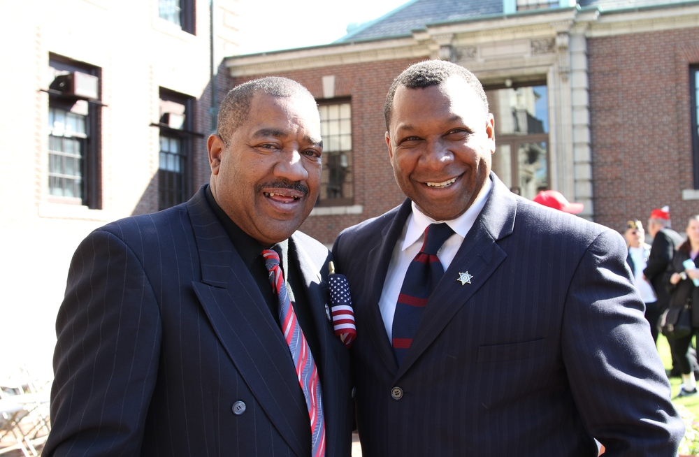 Chelsea City Councilor Leo Robinson and Suffolk County Sheriff Steve Tompkins