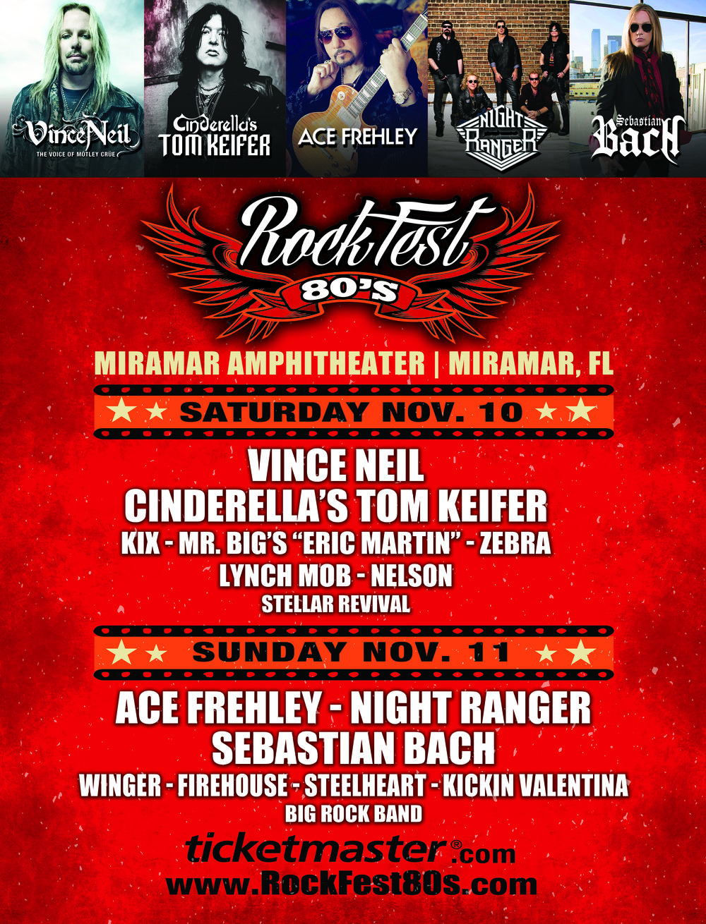 Want to win a pair of tickets to Rockfest 80s? Enter below! We will pick a winner on November 5th!