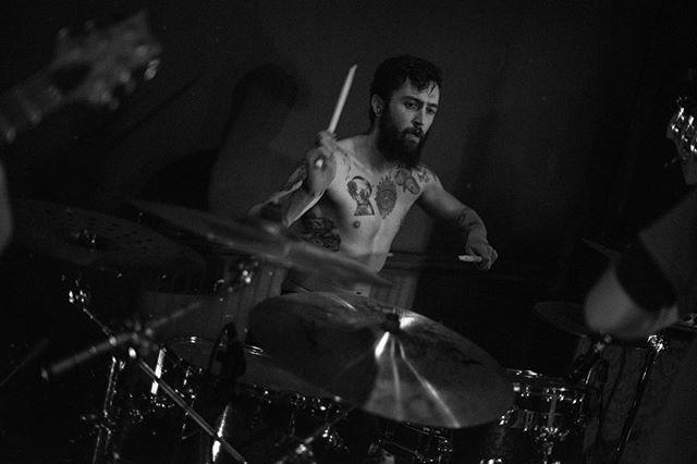 When you get your zen on. 📷: @scottyandthebrofish @sleeperstudios * * * * * #wethewild #wethewildpdx #sleeperstudios #blackwaterbar #sexy #drummer #beard #tattoos #pdx #portland #oregon #northwest #pacificnorthwest #posthardcore #melodichardcore #zen #247hard