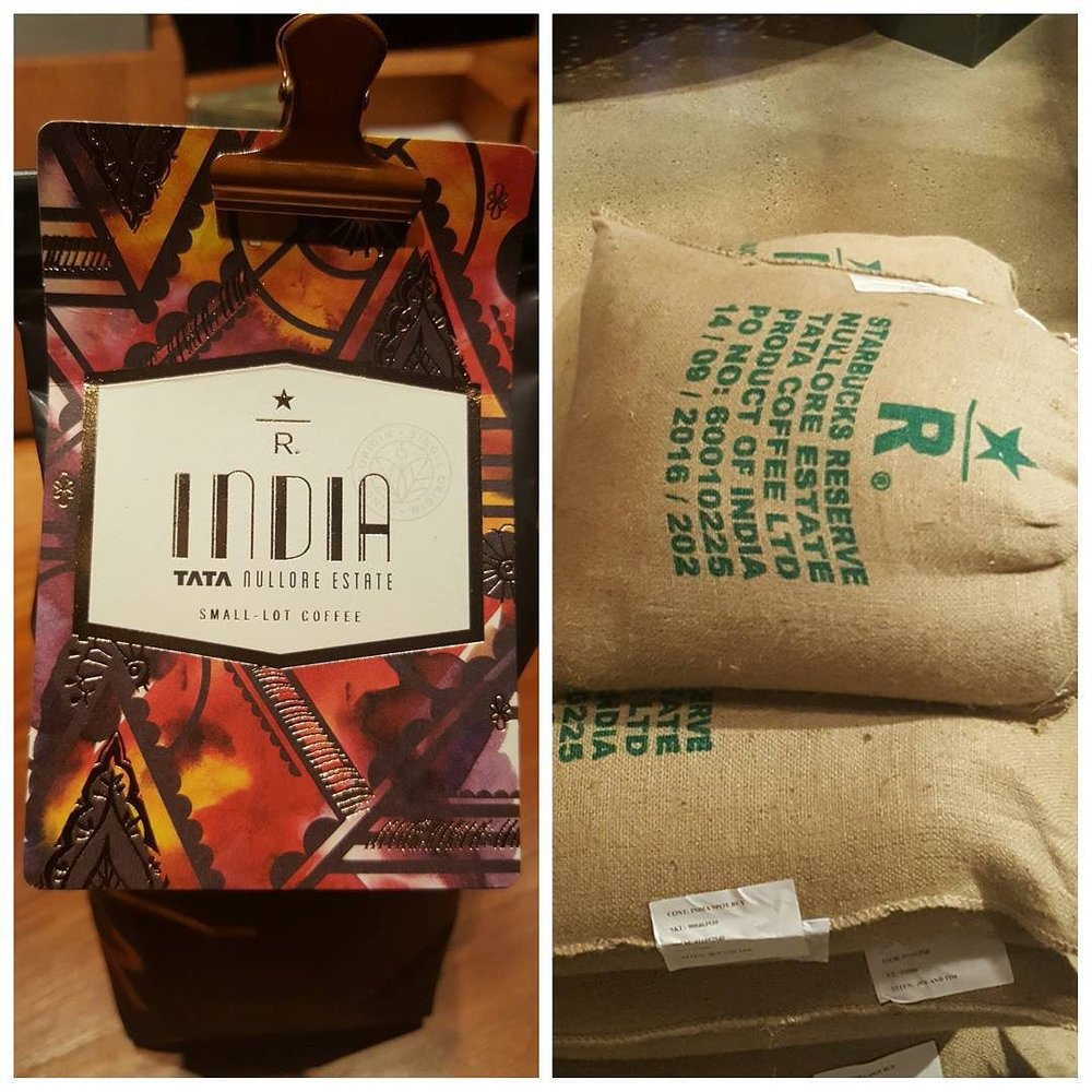 Can't wait to try Starbucks Reserve India Tata Nullore Estate! @starbucksroastery