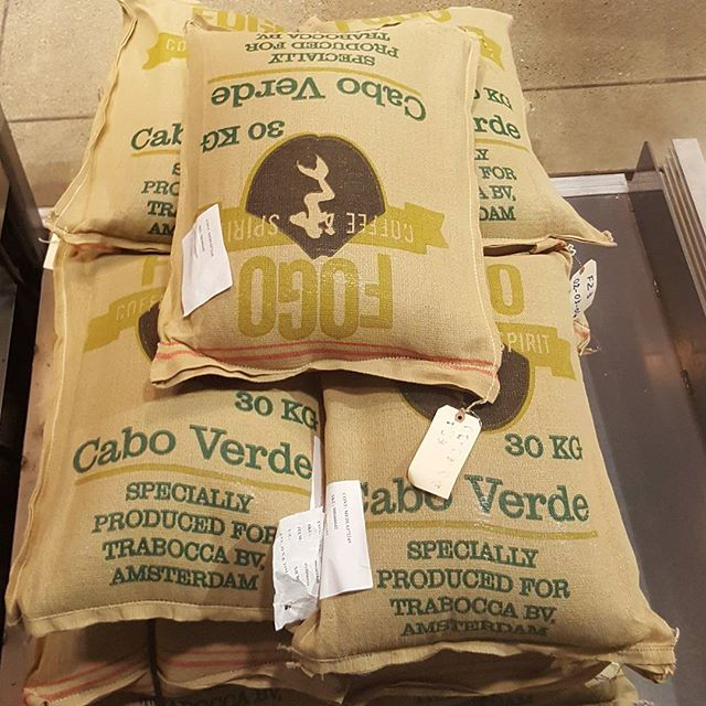 There's a Siren on those burlap sacks!! #Starbucks #roastery #caboverde