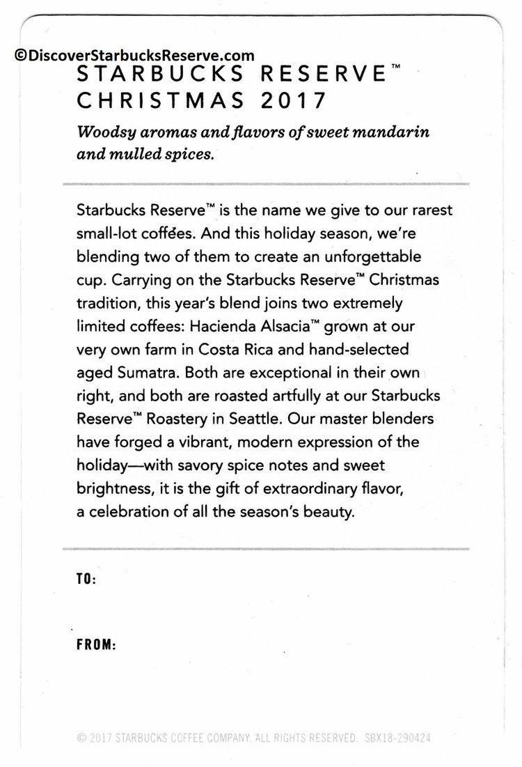 Starbucks Reserve Christmas 2017 — Discover Starbucks Reserve