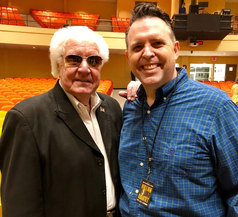 Fluke Holland (drummer in the actual Million Dollar Quartet session) visiting the show in Tenn.