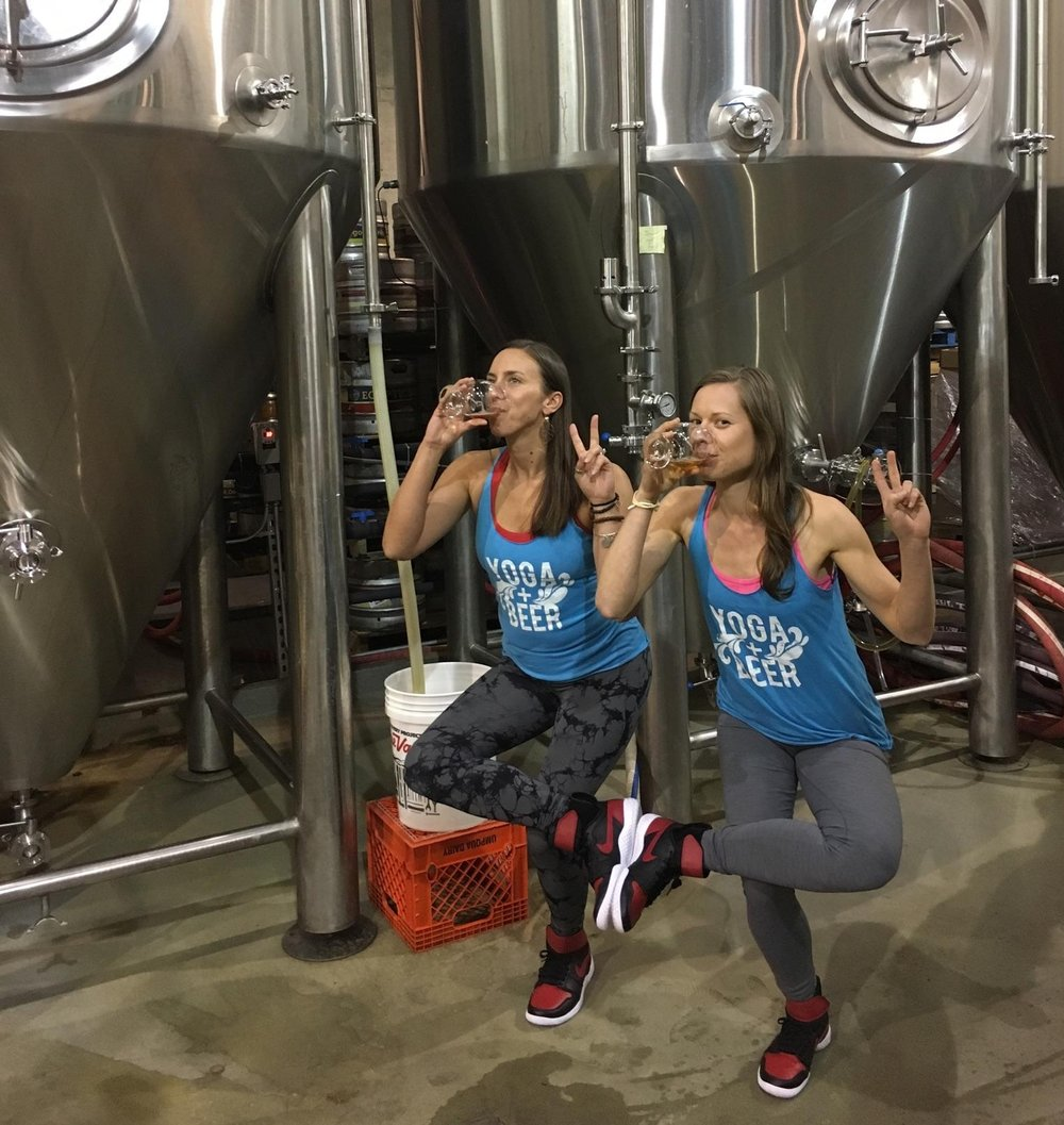 Jana and Mikki twinning (on accident!) at Ecliptic Brewing.