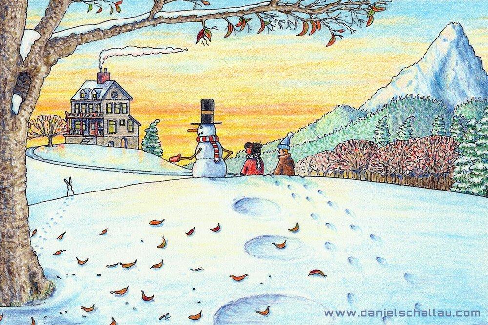 A HOPPY SNOWMAN