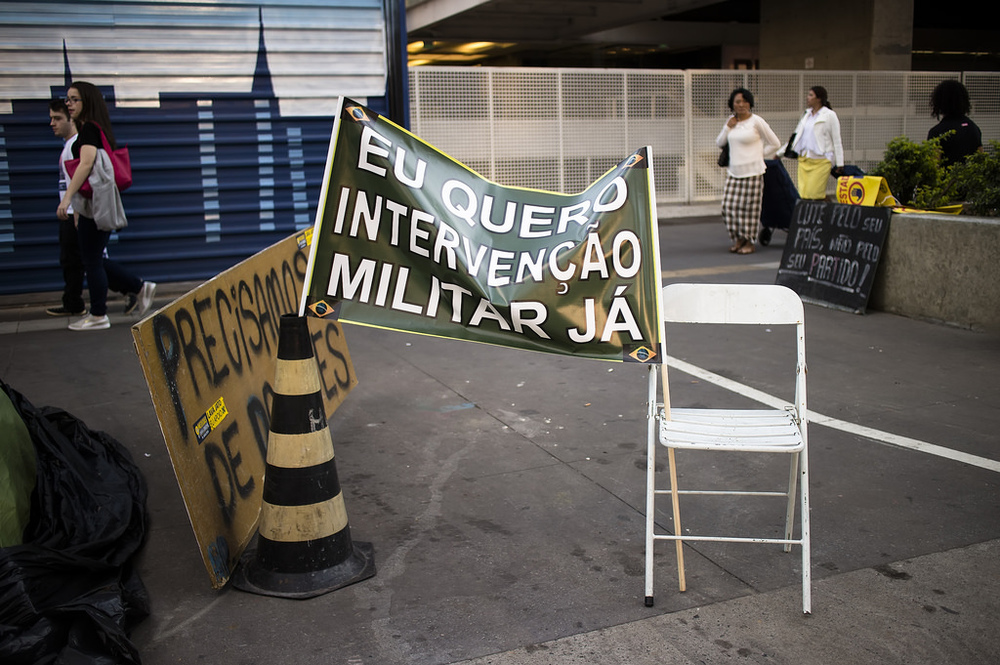 Brazil Protest Sign