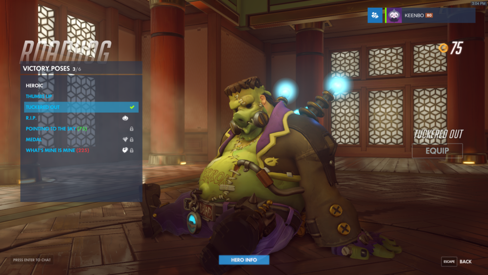I spent a little more than I would like to admit trying to get this skin for Roadhog