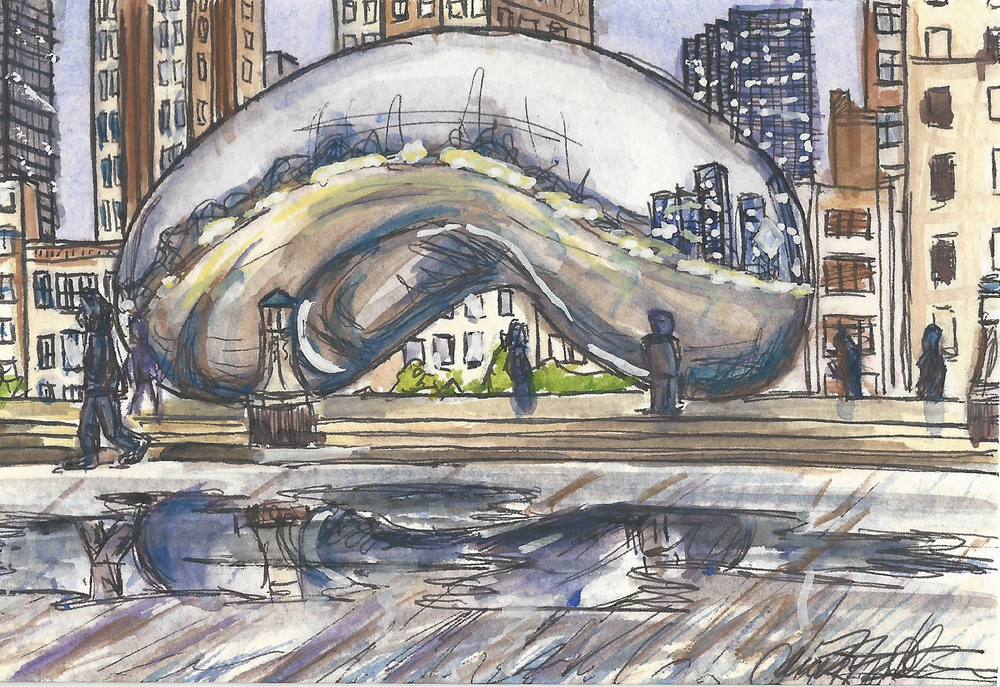 Chicago_The_Bean_Night_Postcard_Watercolor_2014.png