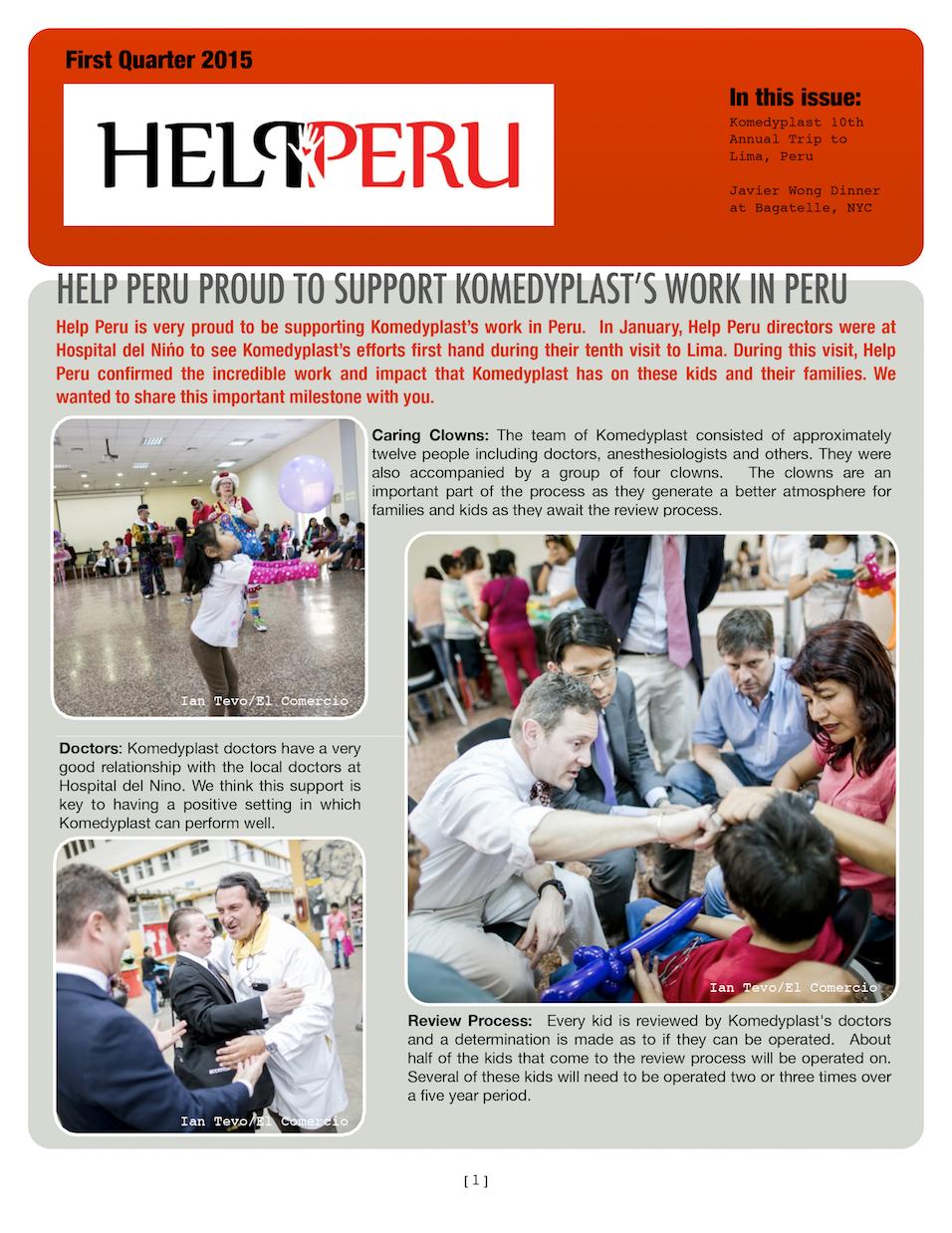 Help Peru Bulletin 1Q 2015