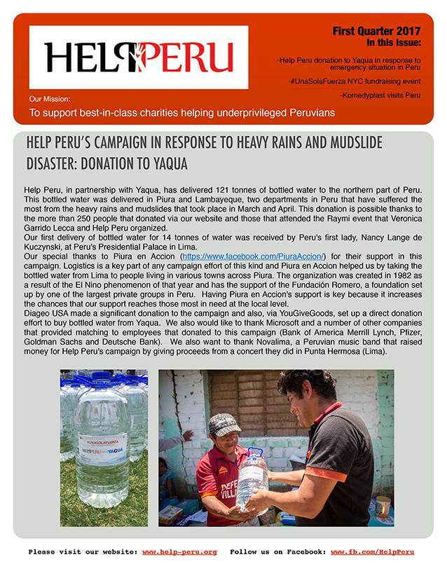 Help Peru Bulletin 1Q 2017