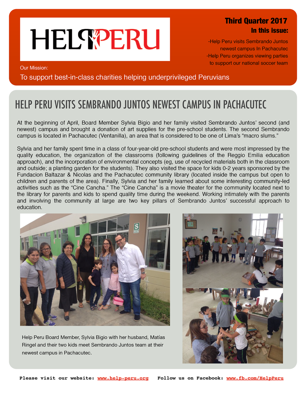 Help Peru Bulletin 3Q 2017