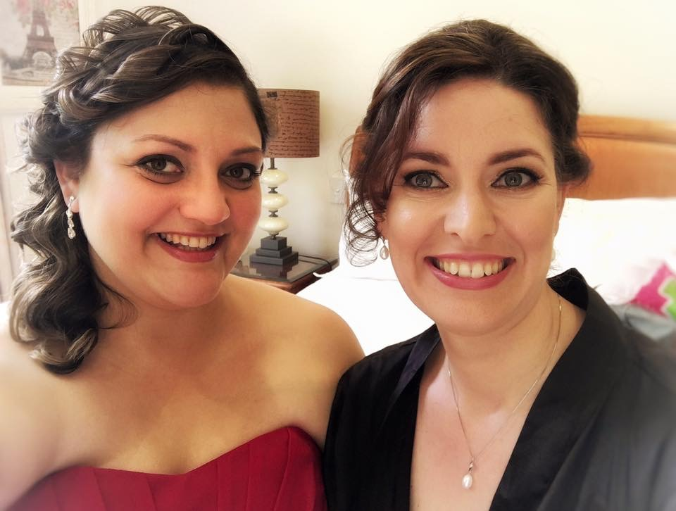 I did makeup on the lovely Juanita (lady on the right only) Happy wedding day Juanita x