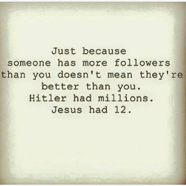 Never a truer word spoken 😇  When you get to the end of your life and face GOD, do you really think HE is going to ask you how many instagram followers you had? #howmanypeopledidyouhelp  #knowwhoyouareinchrist #myidentityisinchrist