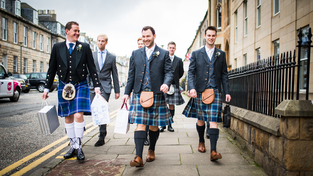 Mansfield Traquair Wedding - Groomsmen