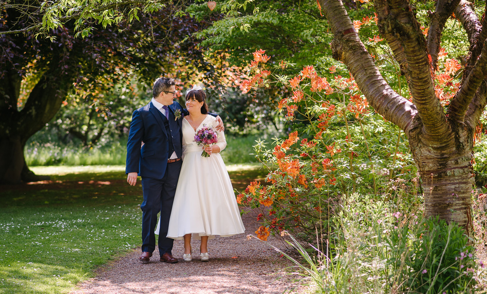 Zoe and Ben in the beautiful gardens at Rufflets.