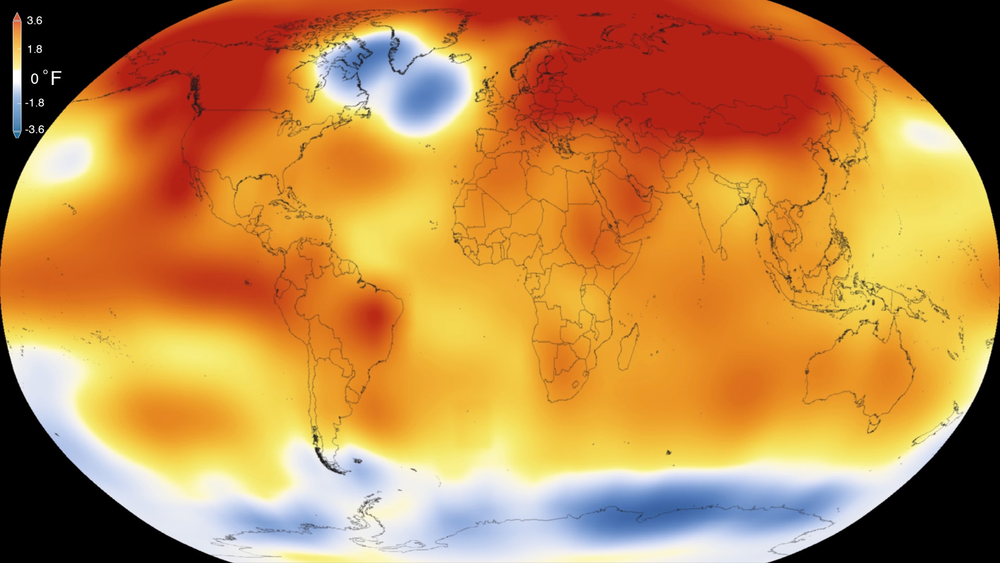 2015 was the hottest year on record By NASA Scientific Visualization Studio