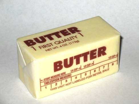 In a shocking turn of events, butter appears to be very calorific By Steve Karg, CC BY 2.5