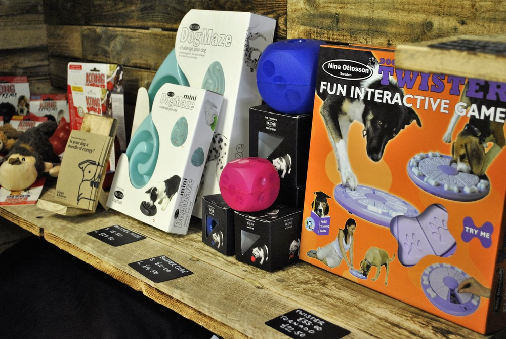 Dog slow feeders, food puzzles, games and anti-gulp bowls for sale at Ginger&Browns pet shop in Northwich, Chester near Chester, Winsford, Frodsham. Shop in store or buy online.