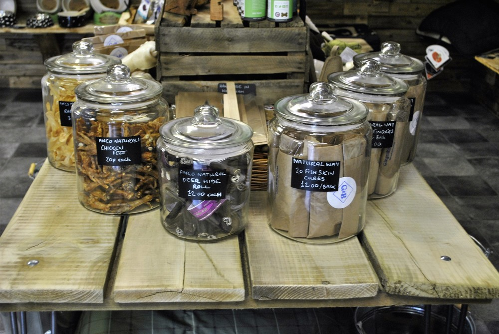 Dog chews and treats for sale at Ginger&Browns pet shop in Northwich, Chester near Chester, Winsford, Frodsham. Shop in store or buy online.
