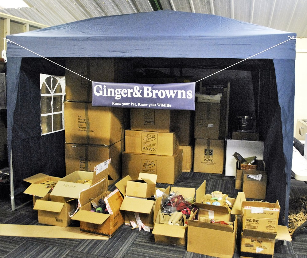 Ginger&Browns Stall being set up ready for DogFest in Cheshire