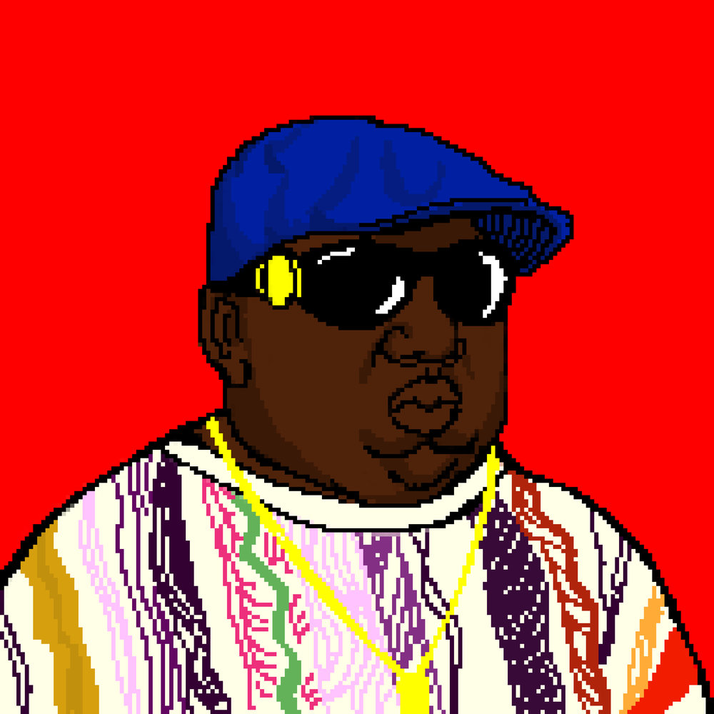 Notorious  B.I.G Pixel Portrait