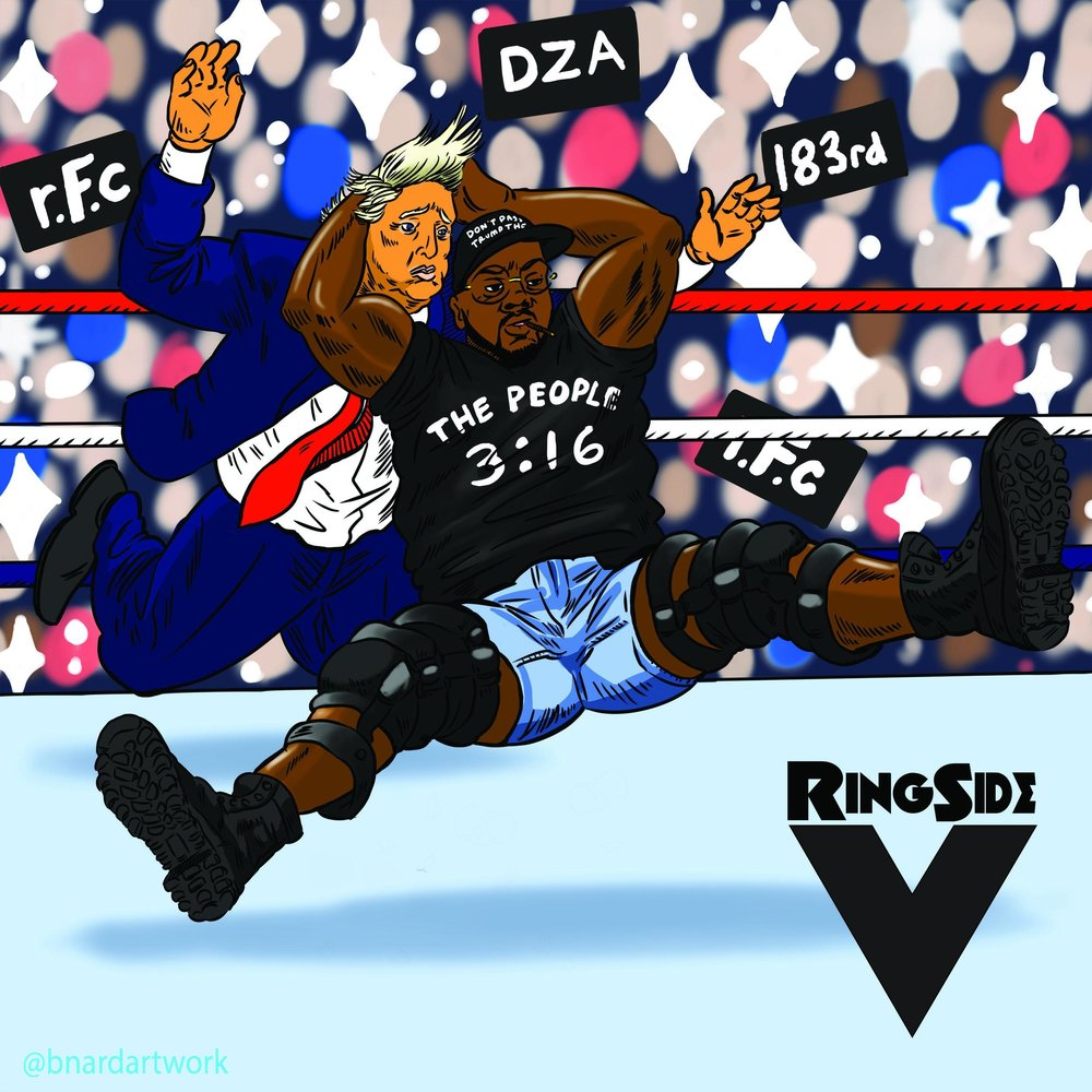 "Smoke Dza ""Ringside V"" Cover Art"