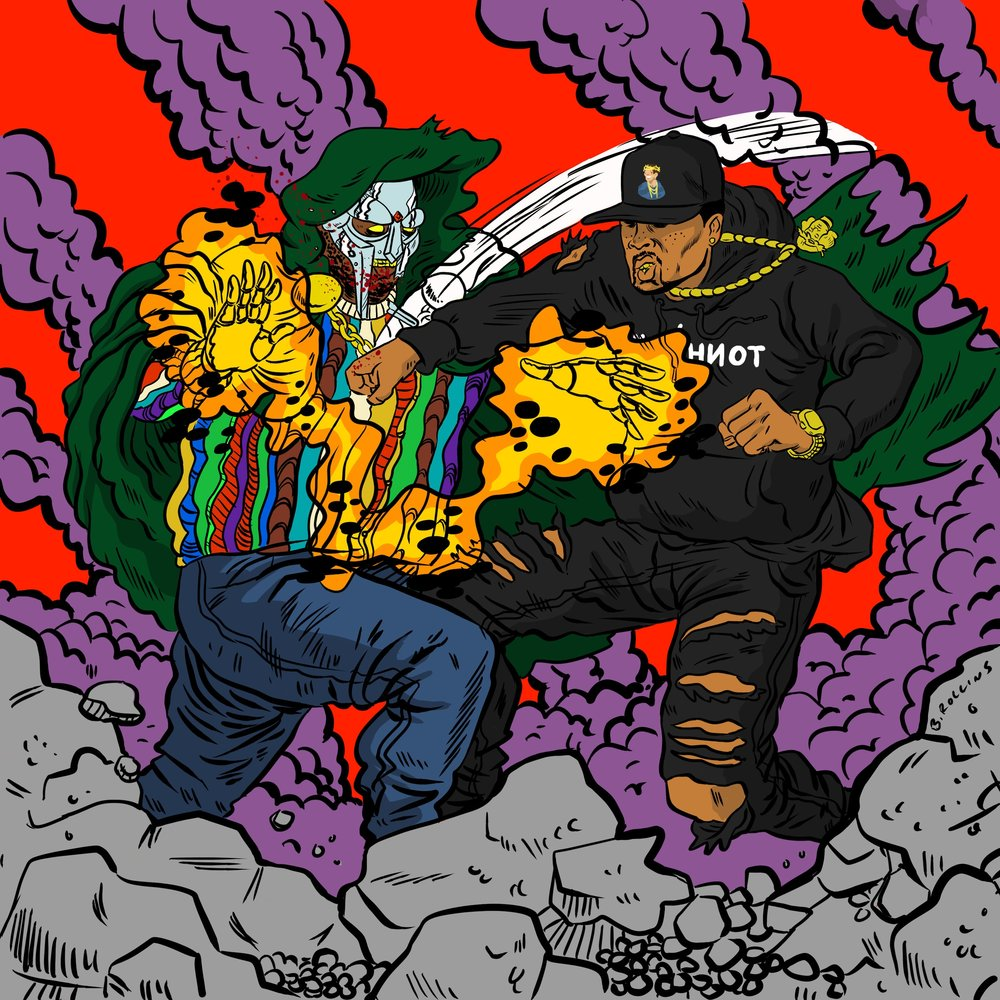"Cover Art for WESTSIDEDOOM's (Westside Gunn & MF DOOM) ""2 Stings"""
