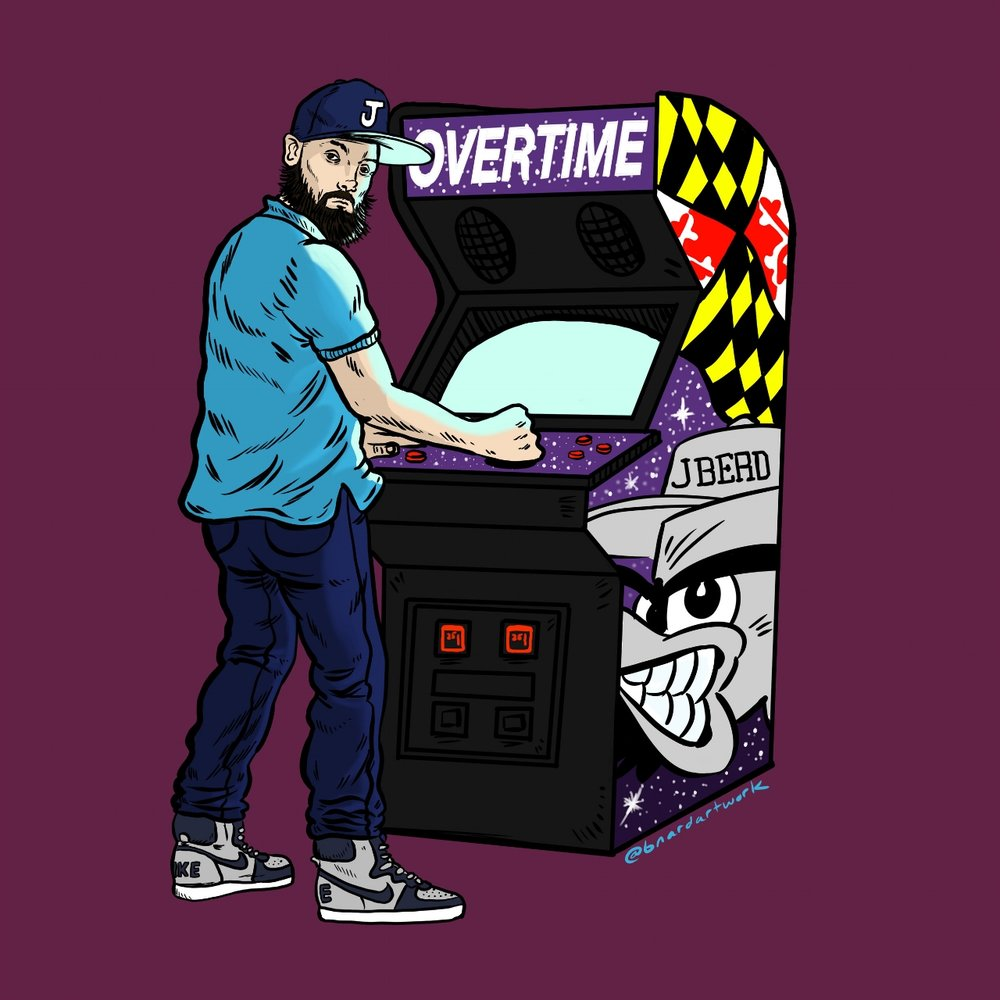 "Cover art for J BERD's ""Overtime"""