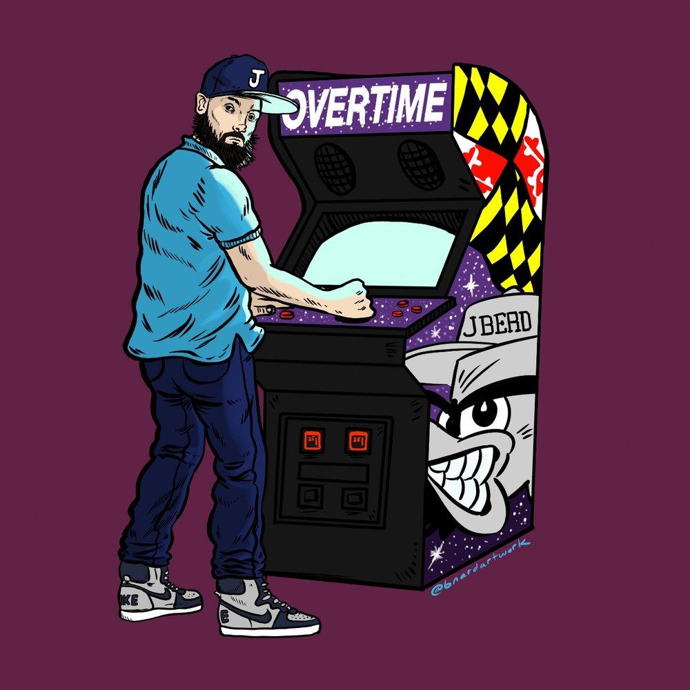 """Cover art for J BERD's """"Overtime"""""""