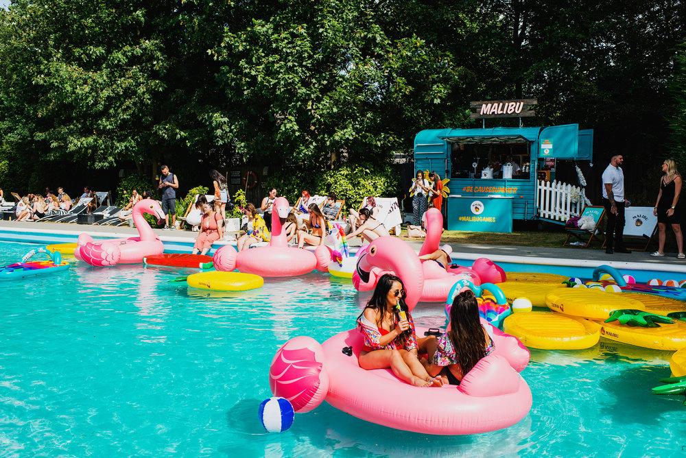Malibu Games Pool Party, London 2018