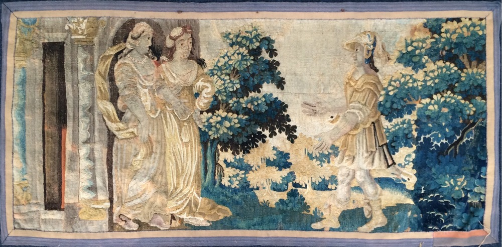 17th Century Aubusson Tapestry. Size 1.53m x 0.75m SOLD