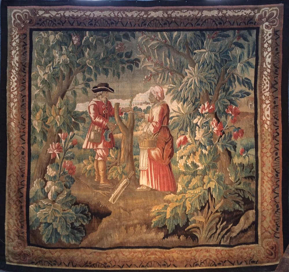 18 Century Brussels Tapestry 2.40 x 2.40 SOLD