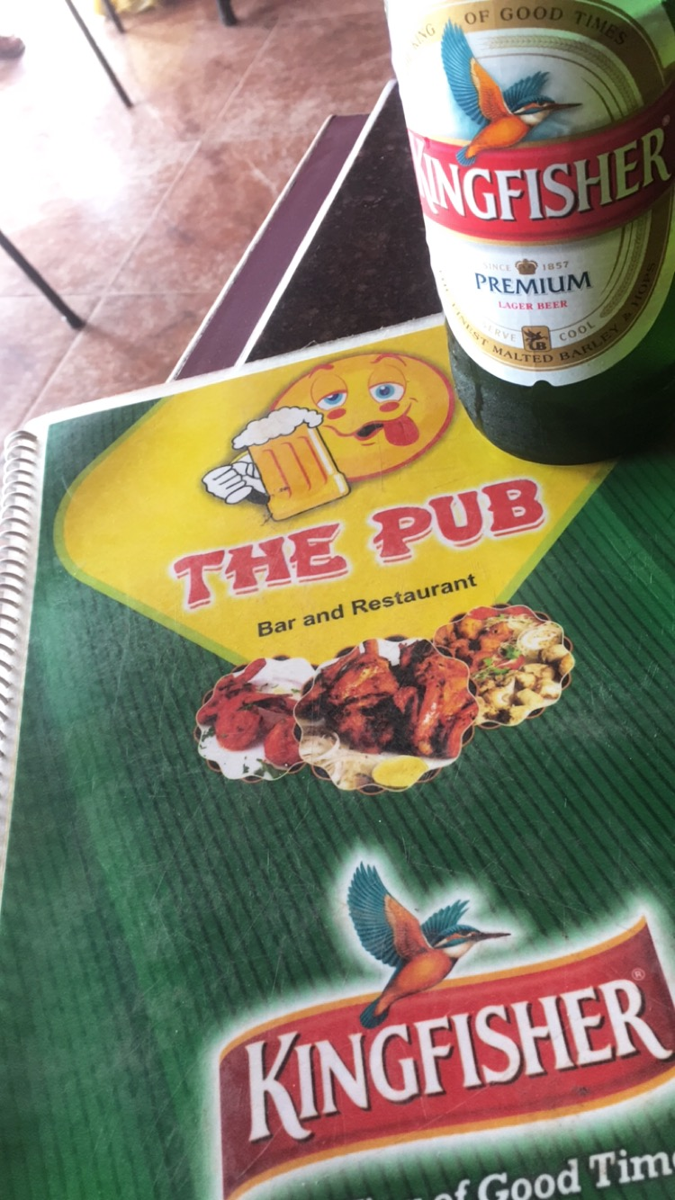 Kingfisher at The Pub in Mapusa