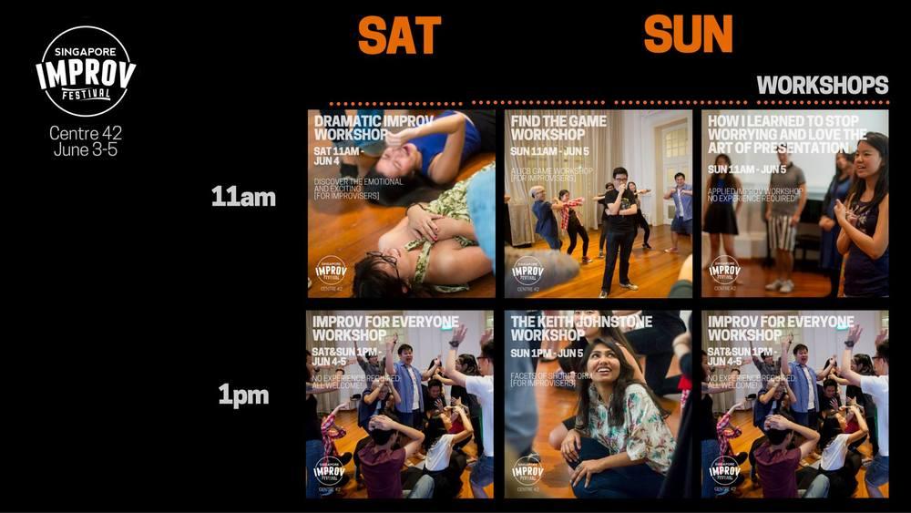 Imporv workshops at Singapore Improv Festival
