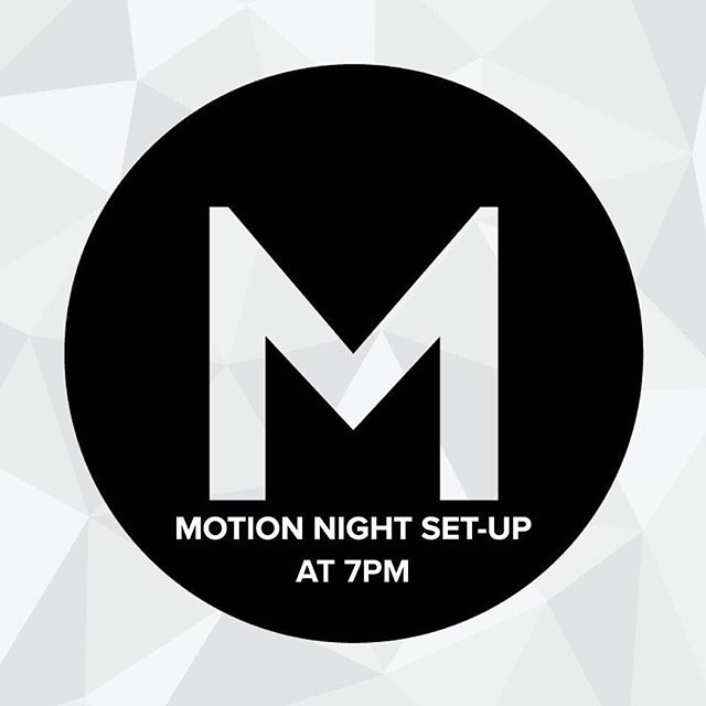 MOTION Night setup is tonight at 7pm!  This is a great first step to step up and own your night!⠀PM if you need a ride. ⠀ #motionmidwest⠀ #setup⠀ #stepout⠀ #ownyourmotionnight