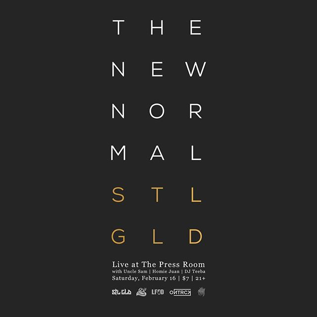 NEW HAMPSHIRE! @stlgld is coming to you this Saturday live from @pressroomnh! Rocking songs off our new album, 'The New Normal' bringing out some friends as well! Tickets. Available now! Make sure to be in the building!! #STLGLDTheNewNormal