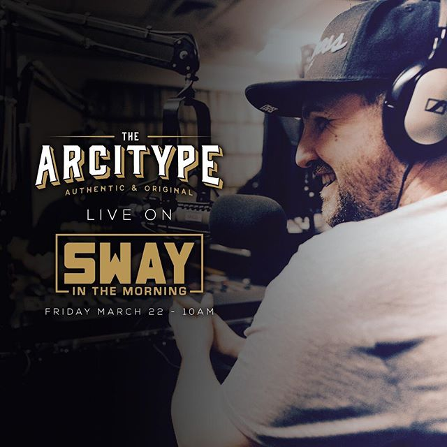 This Friday I'm headed up to @swayinthemorning with @realsway to play some beats. Tune in at 10am. #ArcProducedThat #SwayInTheMorning #TheArcitype #Producer #MusicProducer #BostonMusic #HipHop