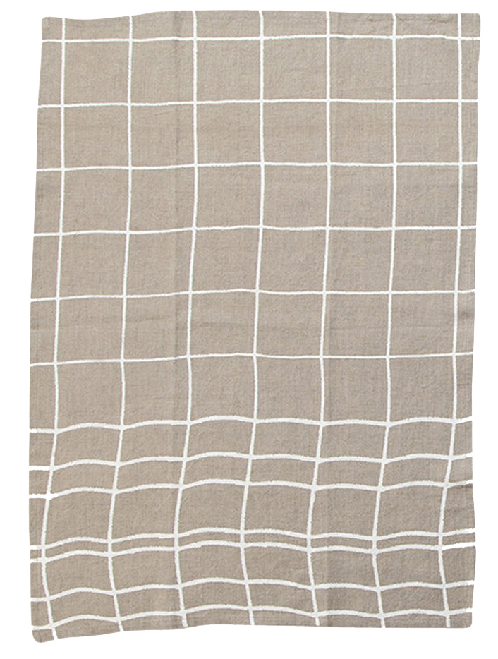 Grid Linen Towels with Hawkins New York