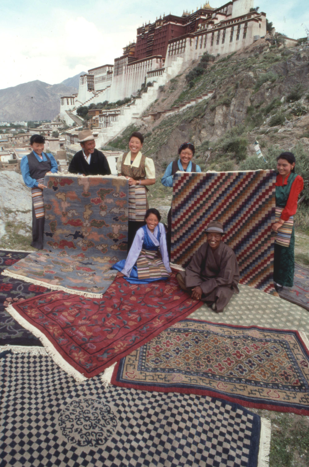 Finished Rugs Picnic in front of Potala.jpg