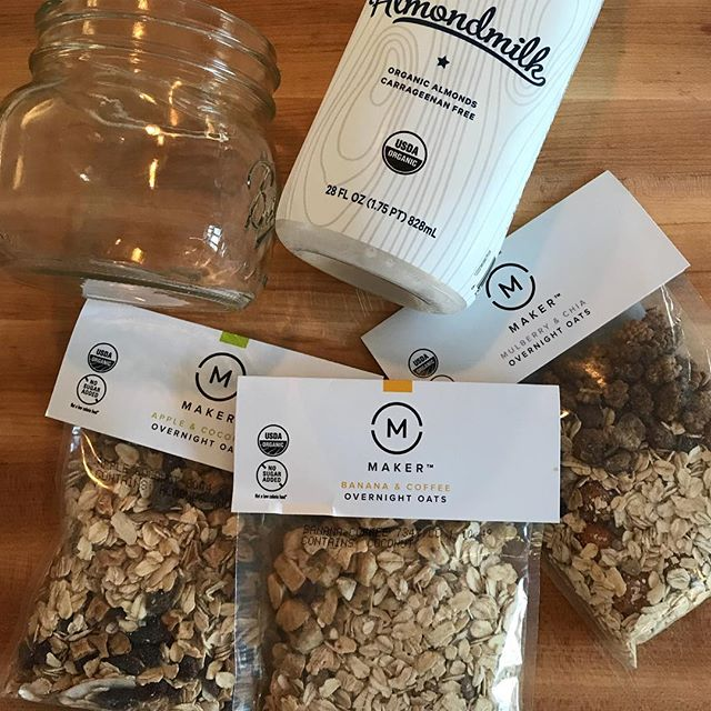 Too lazy to make your own overnight oats? Then reach for these delicious, organic overnight oats mixes by @makeroats. Easy, full of flavor from organic, Real Food ingredients (and no refined sugars!). Our favorite flavor? Banana Coffee.😋Yum. Also good as an afternoon snack. Buy online at makeroats.com or on Amazon.  #organiceats #easybreakfast #thriveanddine #thriveanddineapproved