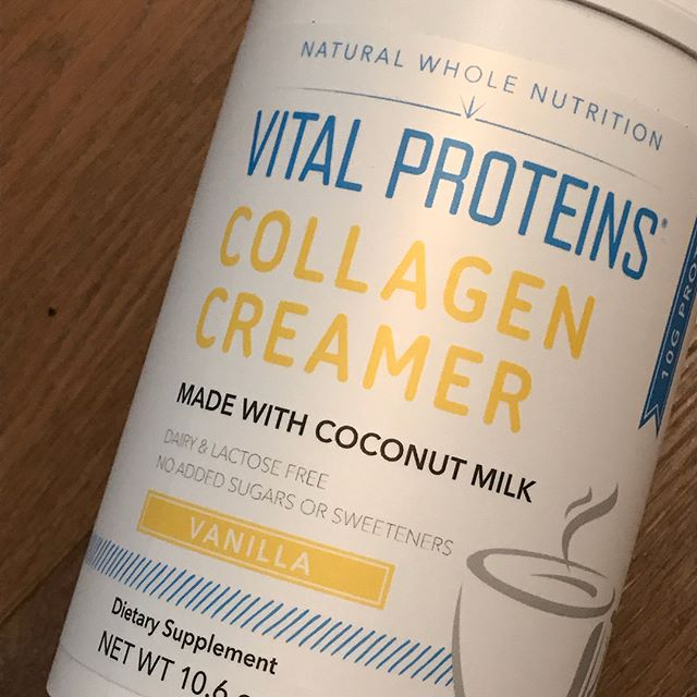 We are loving this new collagen creamer by @vitalproteins! 10 grams of collagen protein and only 1 gram of sugar.  Organic, too. What better way to treat your coffee right each morning? #thriveanddineapproved #organiceats #healthyoc